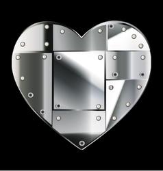 steel heart vector image vector image