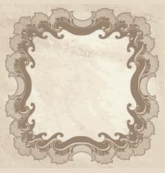 vintage frame ornamental floral background vector image vector image