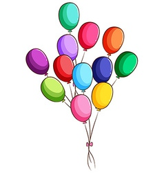 A simple drawing of a group of balloons vector image