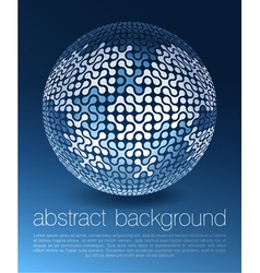 abstract globe network concept vector image vector image