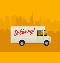 delivery truck flat styled vector image vector image