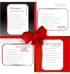 Discount card templates vector image vector image