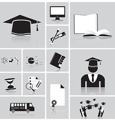 Education And Graduation Icon Set vector image