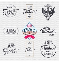 Happy fathers day - poster stamp badge insignia vector image vector image