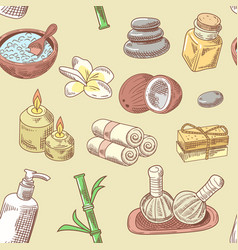 spa wellness beauty seamless pattern aromatherapy vector image vector image