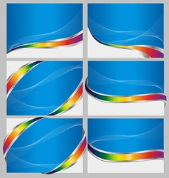 abstract blue back set vector image vector image