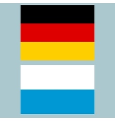 Official national flag of Germany and Bavaria vector image vector image
