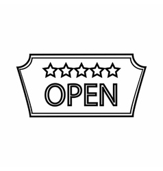 Signage of hotel Open icon outline style vector image vector image