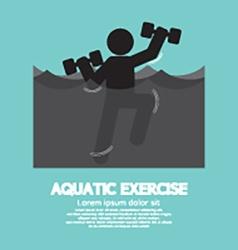 Black Symbol Aquatic Exercise vector image vector image