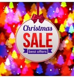 Christmas Sale Best offers paper banner on shining vector image vector image