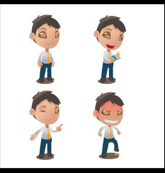 cute cartoon character collection set vector image
