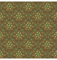 retro damask background vector image vector image