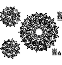 Round Ornament Pattern with pattern brash vector image vector image