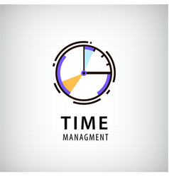 Time managment logo vector