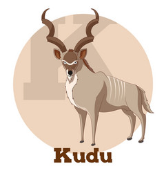 Abc cartoon kudu vector