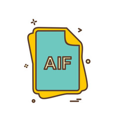aif file type icon design vector image