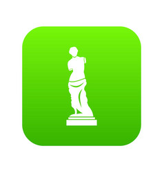 ancient statue icon digital green vector image