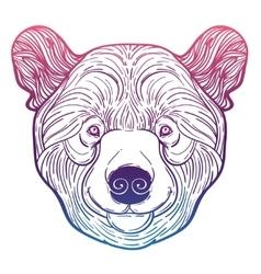 Animal teddy Bear head print for adult anti stress vector