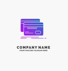 banking card credit debit finance purple business vector image