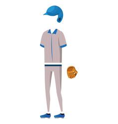 baseball player cartoon vector image