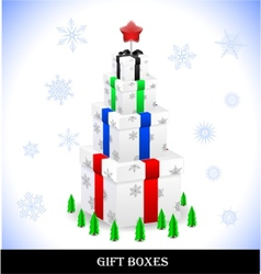 beautiful gift boxes vector image