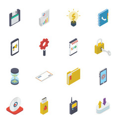 Business and finance isometric pack vector