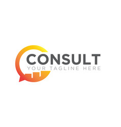 business consult logo designs icon modern vector image