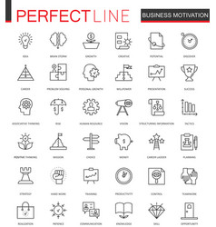 business motivation thin line web icons set vector image