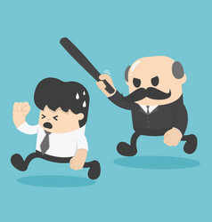 businessman was attacked by the boss vector image