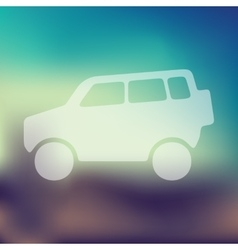 car SUV icon on blurred background vector image