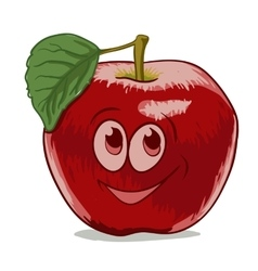 cartoon apple vector image