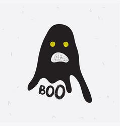 Chost boo for halloween vector