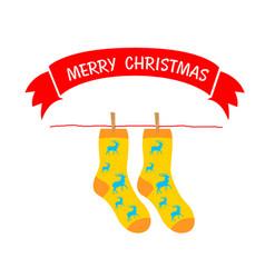 Christmas sock vector