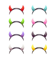 colorful evil horns head gear vector image