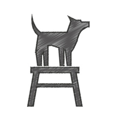 cute dog mascot in chair isolated icon vector image