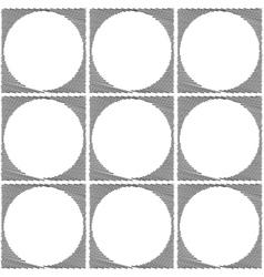 Design seamless monochrome ellipse pattern vector