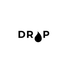 drop logo icon sign vector image
