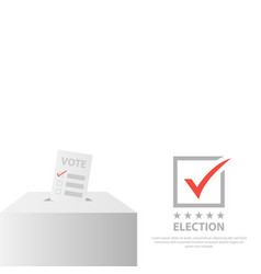 Election background design isolated on white vector