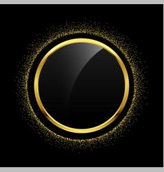 empty circle golden glitter frame background vector image