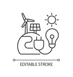 Energy sector linear icon vector