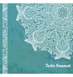 Ethnic vintage ornament background vector