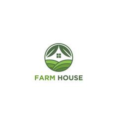 Farm house agricul ture logo - farming growing vector