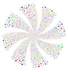 fireworks star fireworks swirl flower vector image