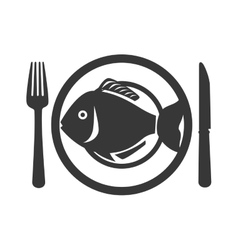 fish seafood menu icon vector image