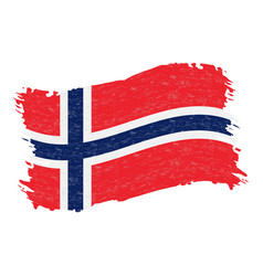 flag of norway grunge abstract brush stroke vector image