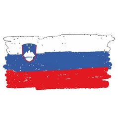 Flag of slovenia handmade vector