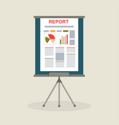 Flipchart with report presentation vector