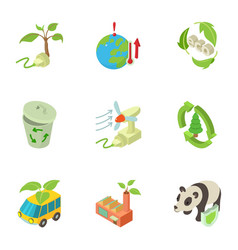 global protection icons set isometric style vector image