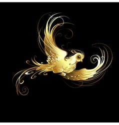 golden bird vector image
