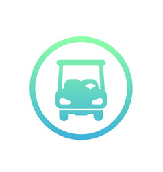Golf car icon on white vector